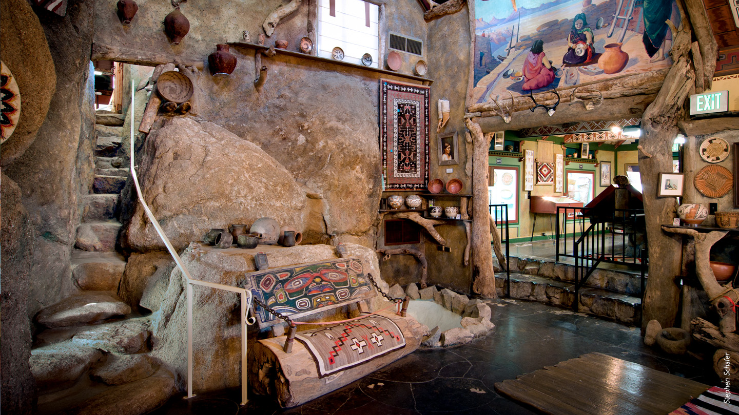 Antelope Valley Indian Museum interior