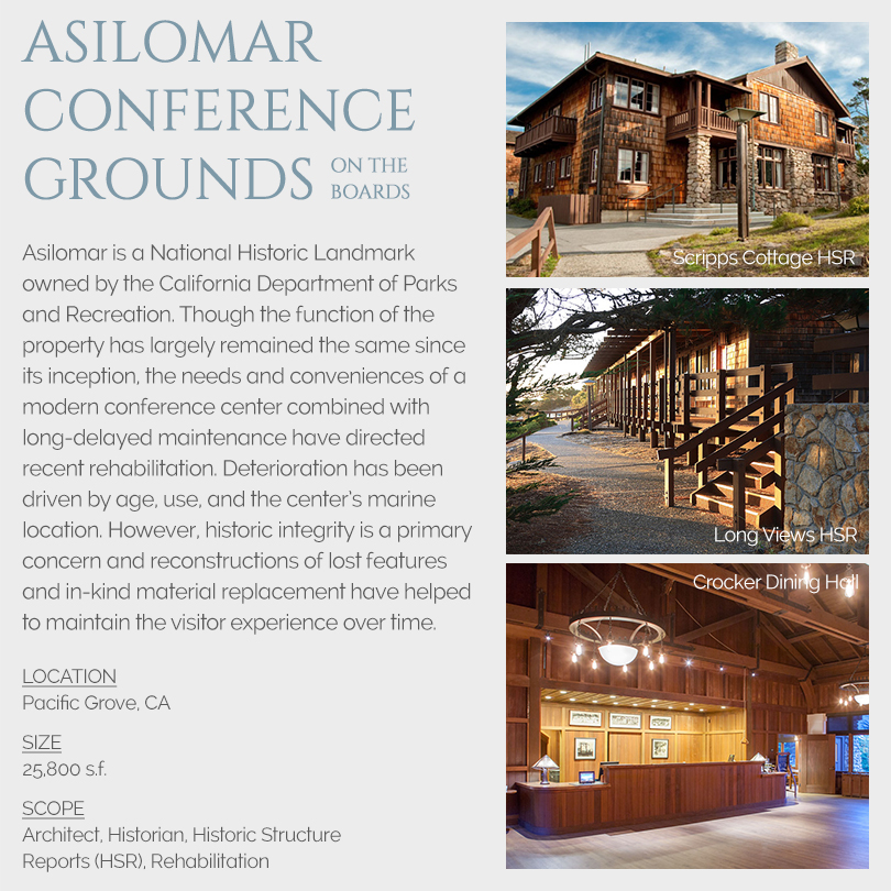 Asilomar Conference Grounds Rehabilitations