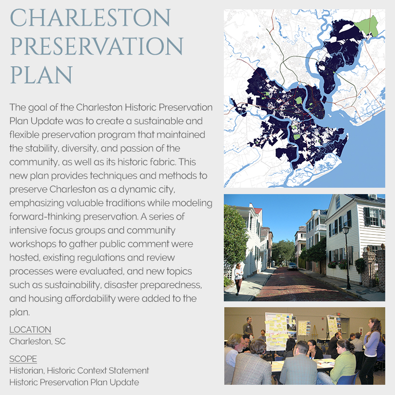 Charleston Historic Preservation Plan