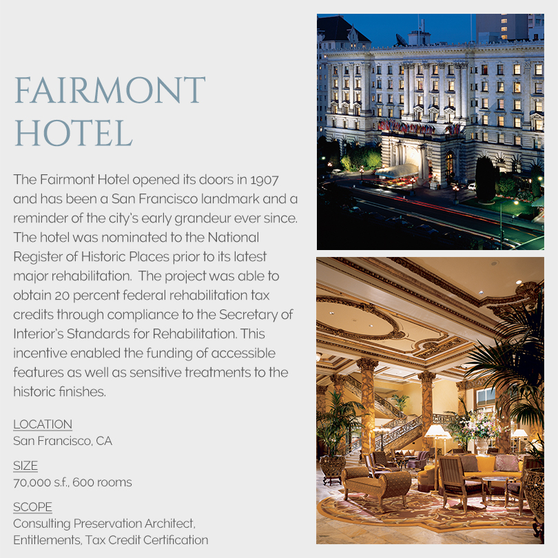Fairmont Hotel tax credits