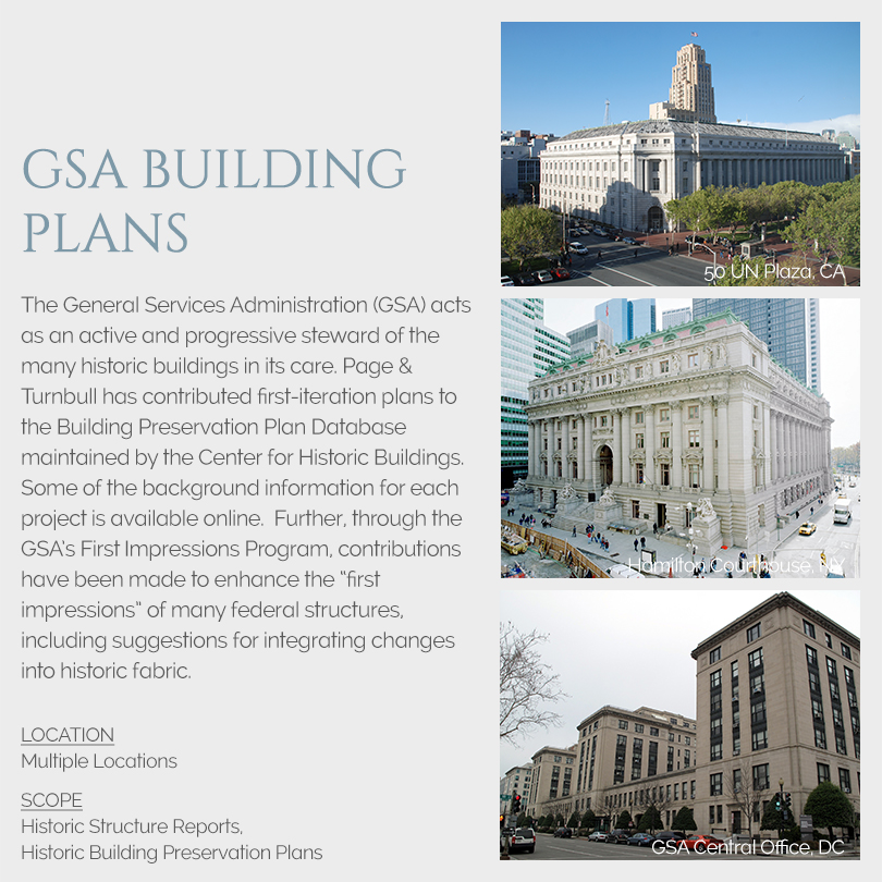 GSA Building Preservation Plans