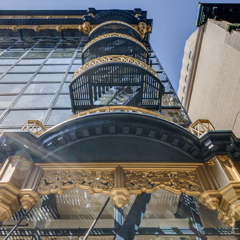 Hallidie Building exit stairs