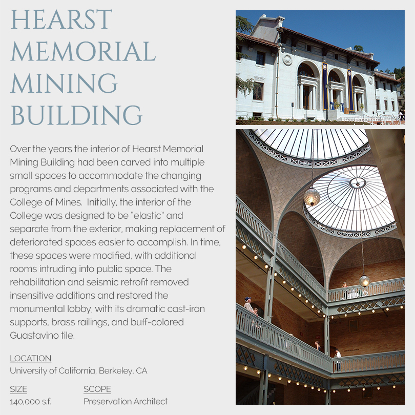 Hearst Memorial Mining Building rehabilitation