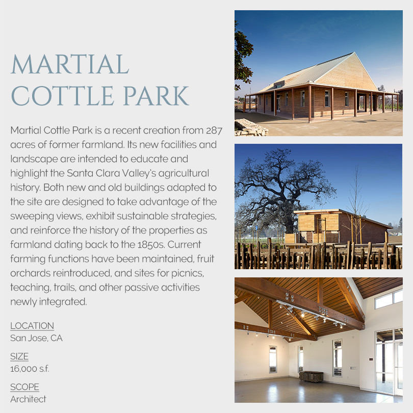 Martial Cottle Park Architecture