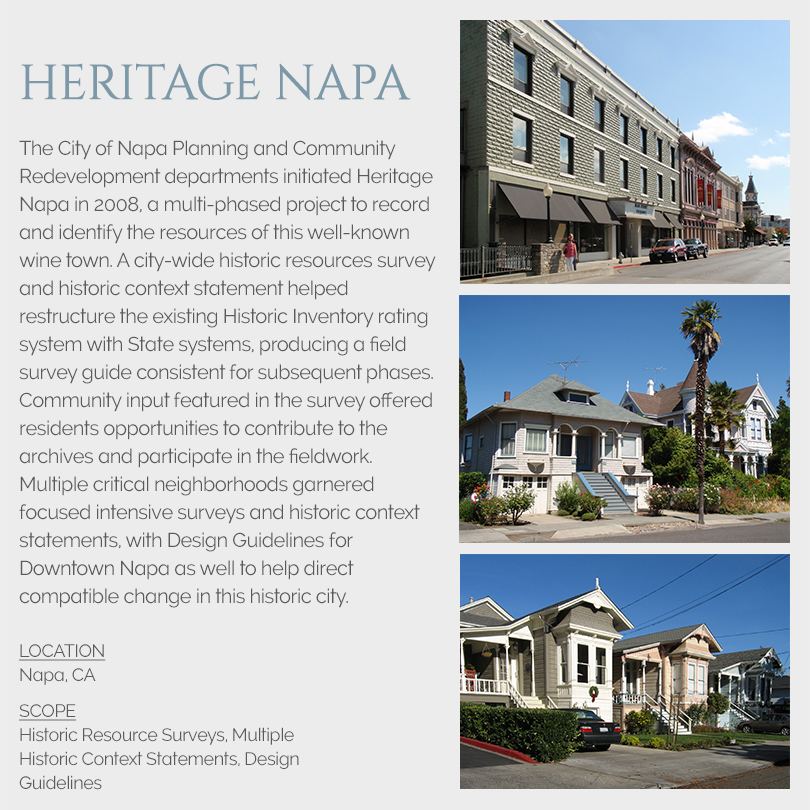 Napa building surveys