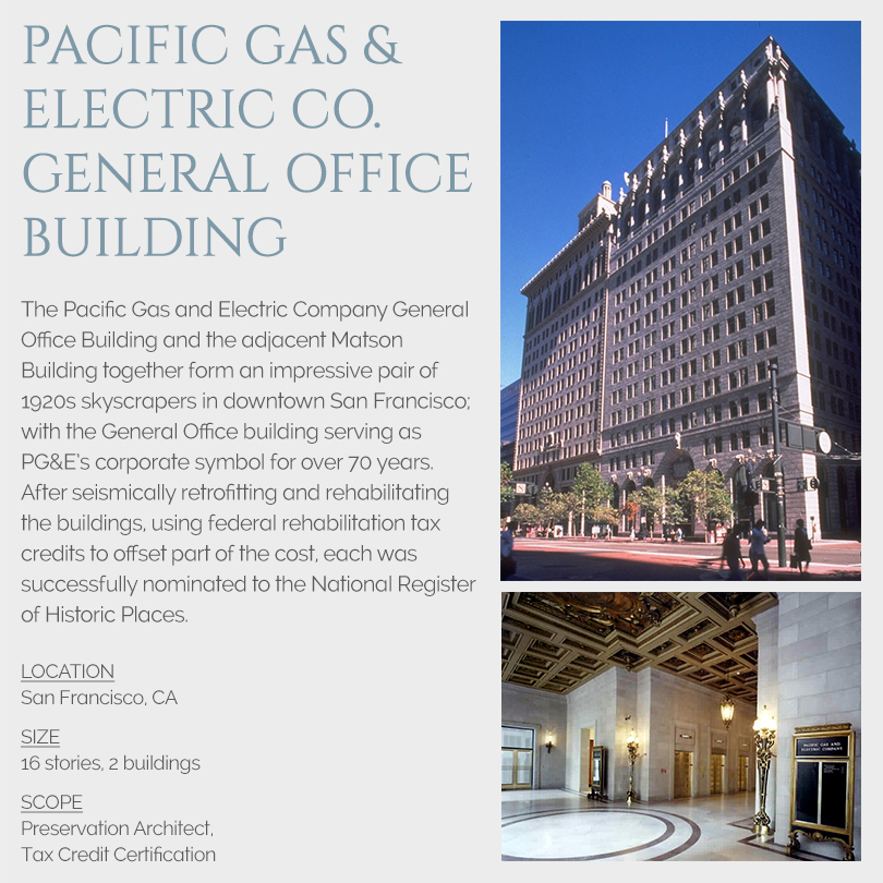 PG&E building tax credits