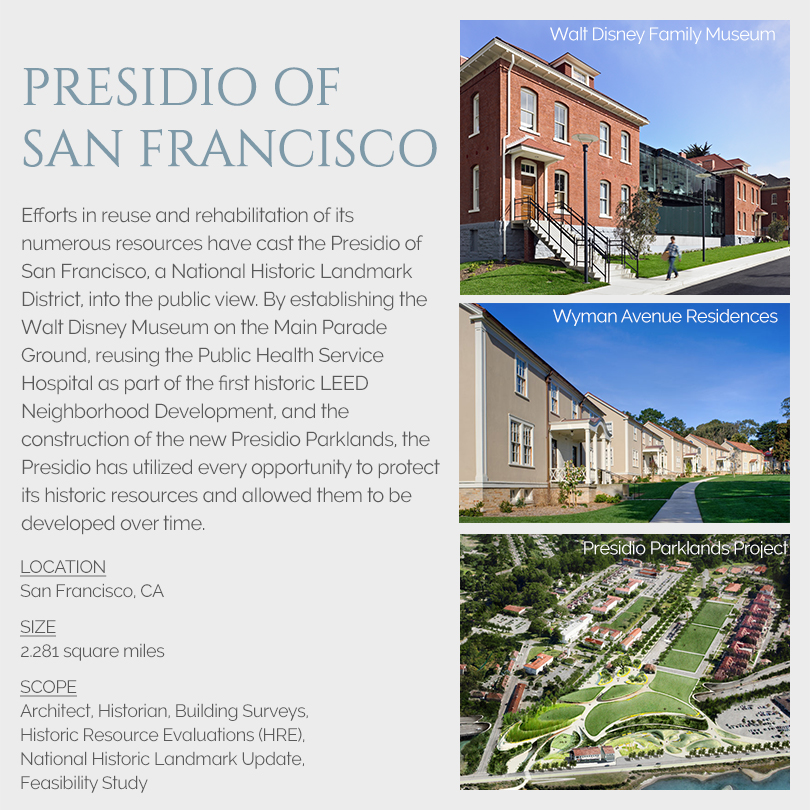 Presidio of San Francisco design projects
