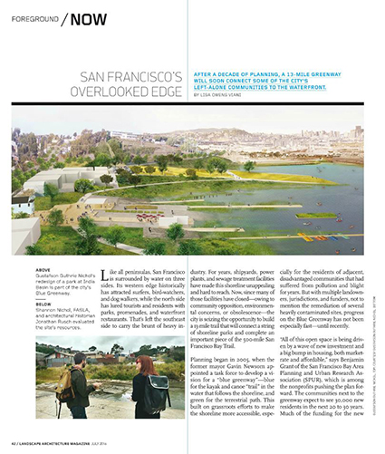 Page & Turnbull Architectural Historian in Landscape Architecture Magazine