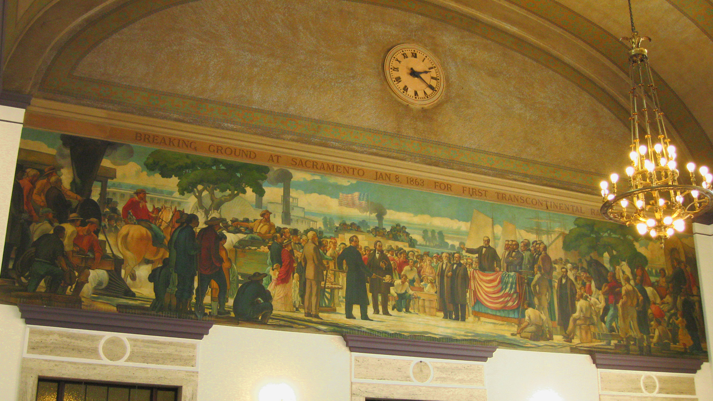 Sacramento Valley Station Depot mural