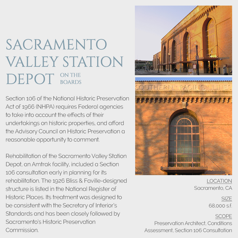Sacramento Valley Station Depot Section 106 Review