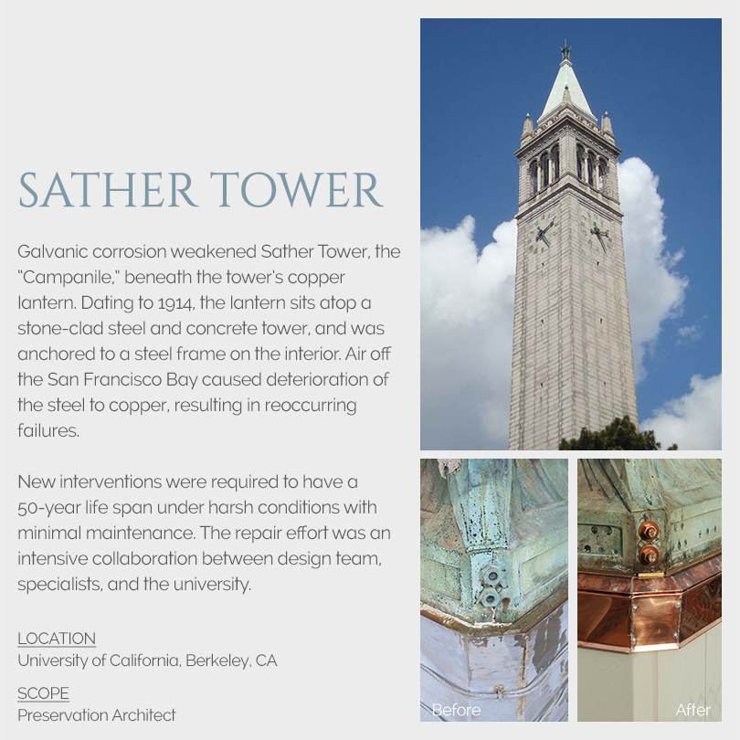 Sather Tower rehabilitation
