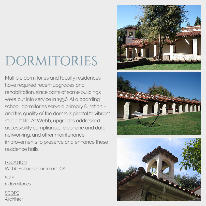 Dormitory rehabilitations, Webb School