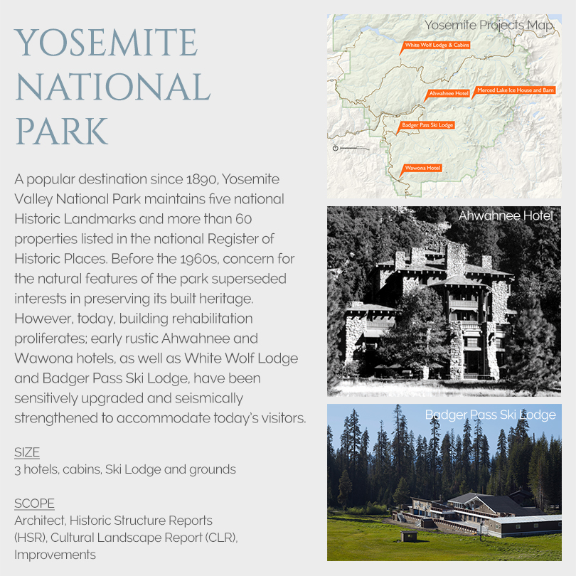 Yosemite National Park building projects